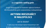 plakat konkursu Aktywni mieszkańcy w Małopolsce