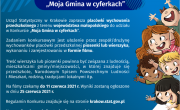 plakat konkursu Moja Gmina w cyferkach