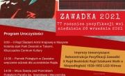 plakat 77 rocznicy pacyfikacji Zawadki