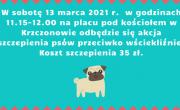 plakat szczepienie psów